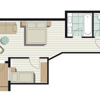Voorbeeld plattegrond Suite Komperdell
