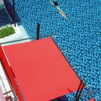 Zwembad van bovenaf