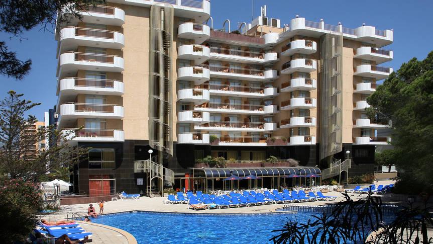 Fachada piscina2-Building & swimming pool2 Hotel Blaumar