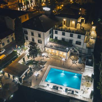 Bovenaanzicht Hotel President Montecatini