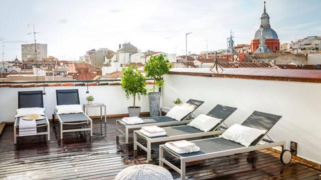 Terras 4-kamerappartement Appartementen Eric Vökel Madrid Suites