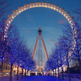 Londen Eye kerst