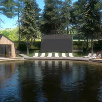 Kamp Turist voorbeeld Lake House