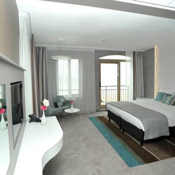 Voorbeeldkamer Strandhotel Golfzang