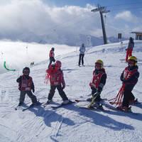 Kinderen aan het skiën