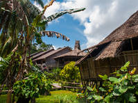 Traditionele longhouse Borneo