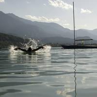 Zwemmer in de Faakersee