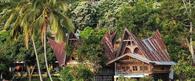 Batak huis op Samosir eiland