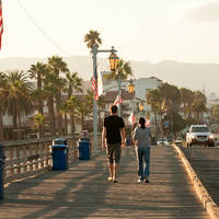 Pier bij Santa Barbara