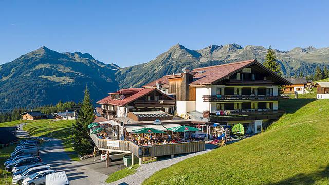 Voorzijde Alpenhotel Garfrescha