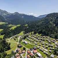 Bovenaanzicht Alpendorf Dachstein