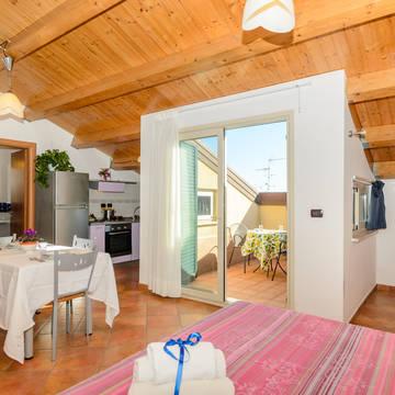 Voorbeeld 1-kamerappartement Residence Le Tartarughe