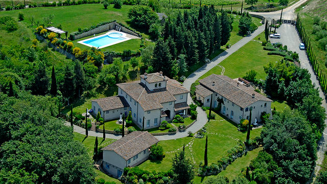 Bovenaanzicht Country Resort Borgo della Meliana