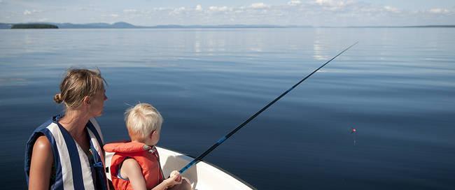 Vissen op het Siljanmeer