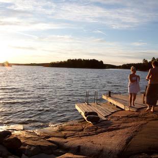 Zomerdag aan het meer