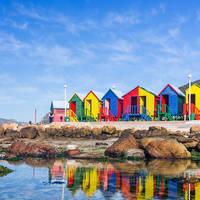Kleurige strandhuisjes Zuid-Afrika