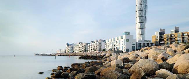 Malmö kust en Turning Torso - Foto: Justin Brown