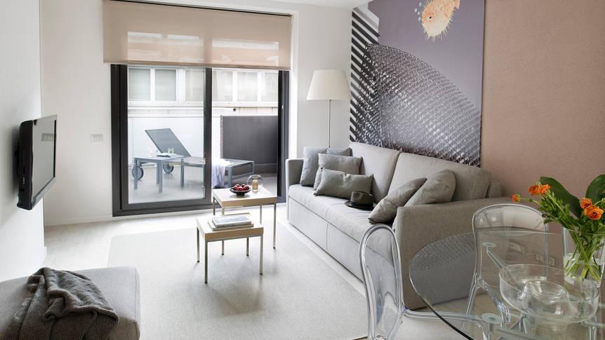 Woonkamer Appartementen Eric Vökel Boutique Sagrada Familia Suites