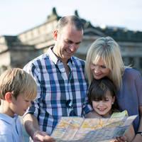 Familie in Edinburgh