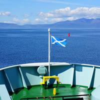 Uitzicht op Isle of Arran