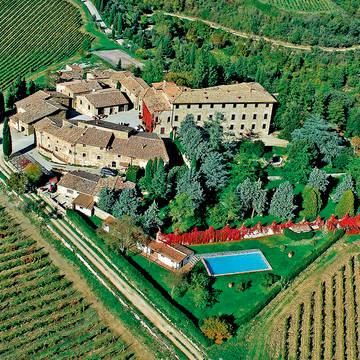 Vista aerea attuale Appartementen Borgo Castelvecchi
