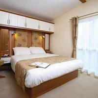 Voorbeeld 2-persoonsslaapkamer stacaravan