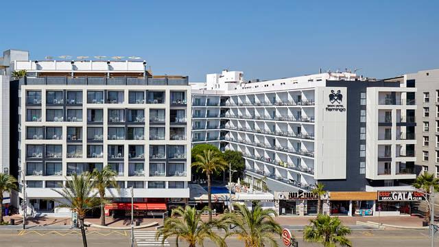 Buitenkant (hotel rechts op foto) Gran Hotel Flamingo