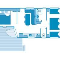 Voorbeeld 4-kamerstacaravan Cottage