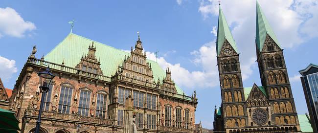 Stadhuis en kathedraal in Bremen