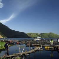 Vissers bij Toba Meer