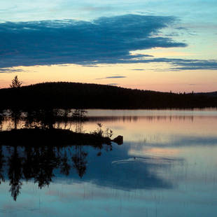 Lapland Salla zonsondergang
