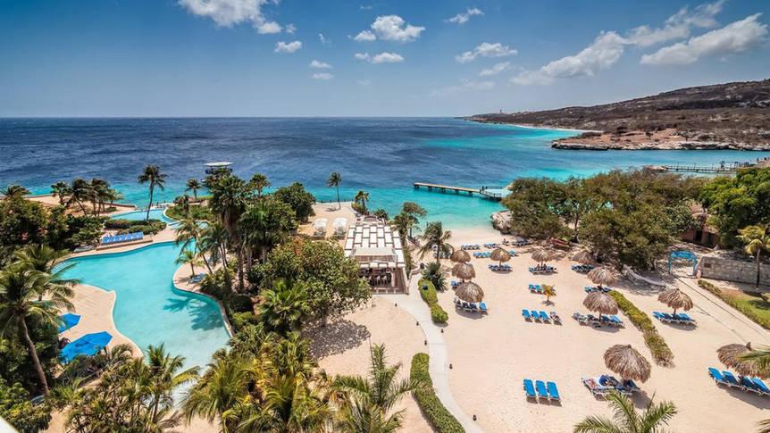 Zwembad en strand Dreams Curaçao Resort & Spa