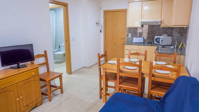 Voorbeeld woonkamer Appartementen AR Dalia