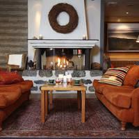 Lounge in het servicegebouw
