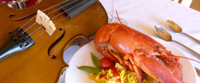 lobster and music