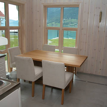 Eethoek voorbeeld woning Skjolden Brygge Vakantiewoningen