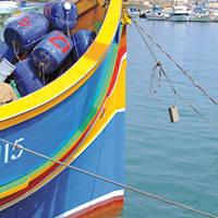 Luzzu boot op Malta