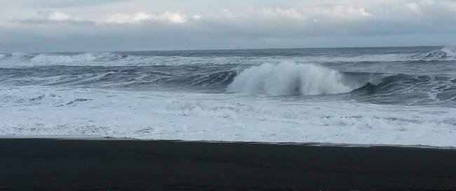 Zwarte lavastranden bij Vik