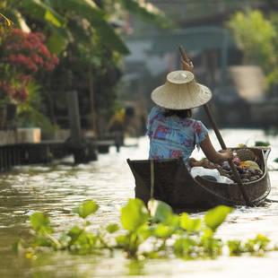 door de klongs van Bangkok