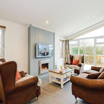 Voorbeeld woonkamer 3-kamerwoning Wareham Forest Lodge