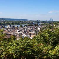 Uitzicht op Koenigswinter en Bonn