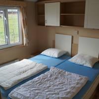 Stacaravan voorbeeld slaapkamer