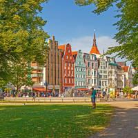 Rostock - Park in het oude centrum