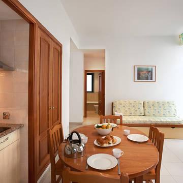 Voorbeeld woonkamer Appartementen Royal
