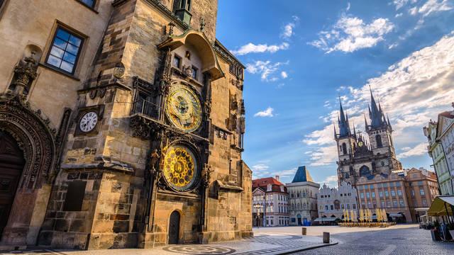 Astronomische klok & Týnkerk op ca. 10 minuten loopafstand van het hotel! Hotel Atlantic