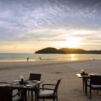 Dineren op het strand