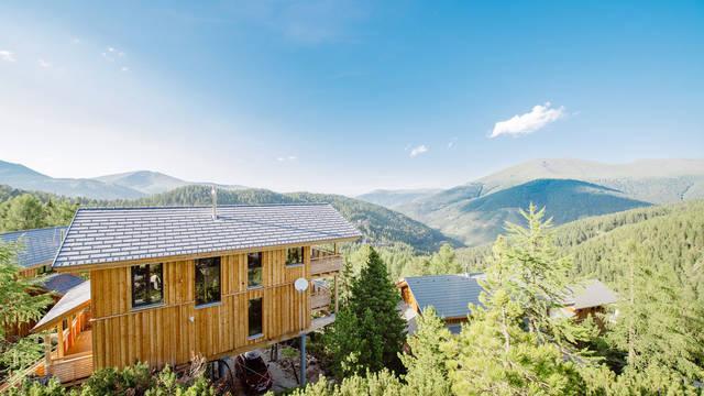 Uitzicht zomer Alpenpark Turracher Hohe