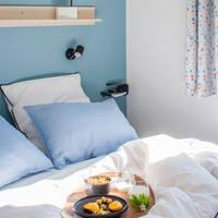 3-kamer stacaravan Comfort Deluxe - slaapkamer