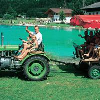 Tractorrit naar het meer