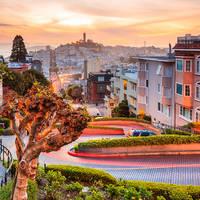 Bekende Lombard straat in San Francisco